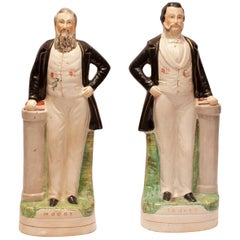 Pair of Staffordshire Figures, Moody and Sankey, England, circa 1860