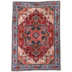 Schöne Vintage französischen Cogolin Teppich Heriz Stil