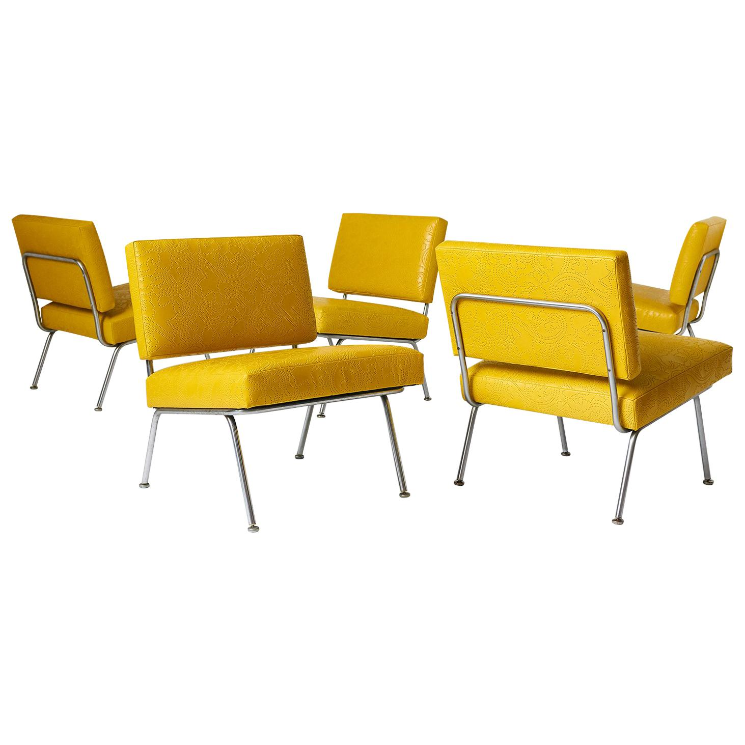 Set of Five Florence Knoll Chairs Model #31 for Knoll International