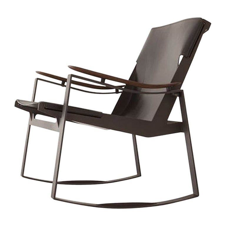 Licce Lounge Chair by Sollos in Black Leather
