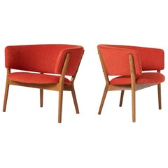 Pair of Nanna Ditzel Model #83 Lounge Chairs for Soren Willadsen