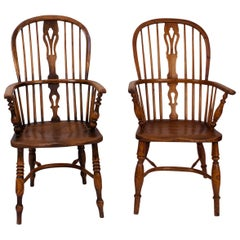 Assembled Pair of Windsor Armchairs, England, circa 1840
