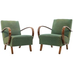 Set of Two Retro Armchairs by Jindřich Halabala, 1950s