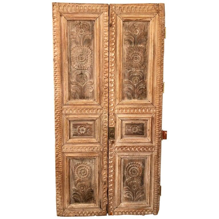 Pair Of 19th Century Monumental Folk Art Doorways Mounted
