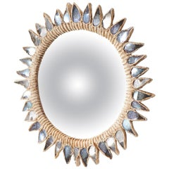 """Blue Thistle"" Mirror by Line Vautrin"