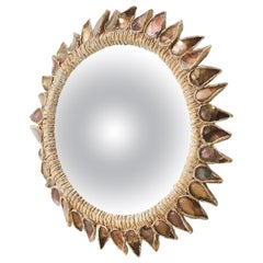 """Pink Thistle"" Mirror by Line Vautrin"