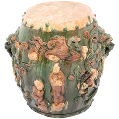 Early 20th Century Chinese Peony Garden Stool