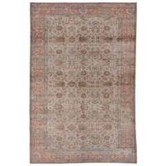 Kaisary Carpet with Soft Colors, circa 1930s