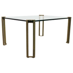 Peter Ghyczy Brass and Glass Coffee Table