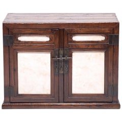 18th Century Chinese Chest with Marble Paneled Doors