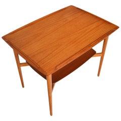Danish Modern Teak and Oak Side Table by Torben Strandgaard