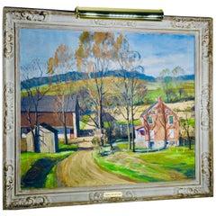 "John E. Berninger ""Pennsylvania Summer Farm"" Oil on Canvas"