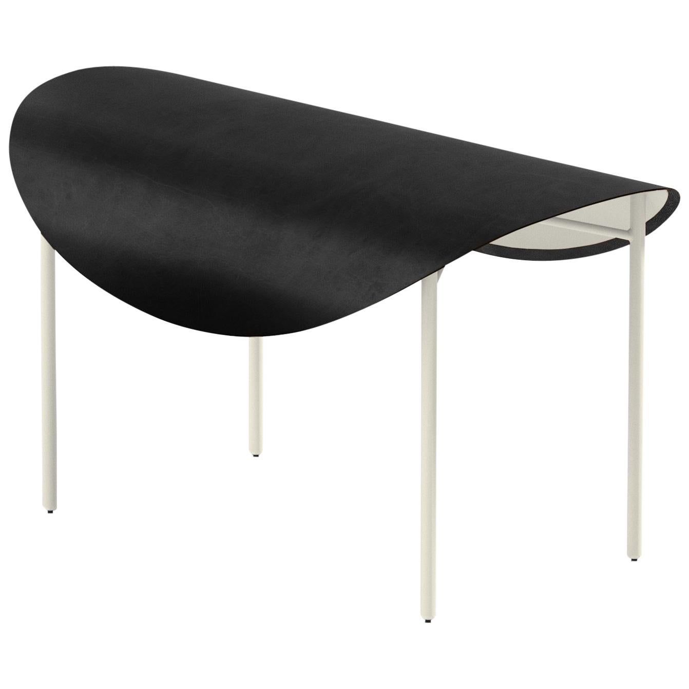 The Tack Bench, Calen Knauf, Black and Beige, Steel Leather