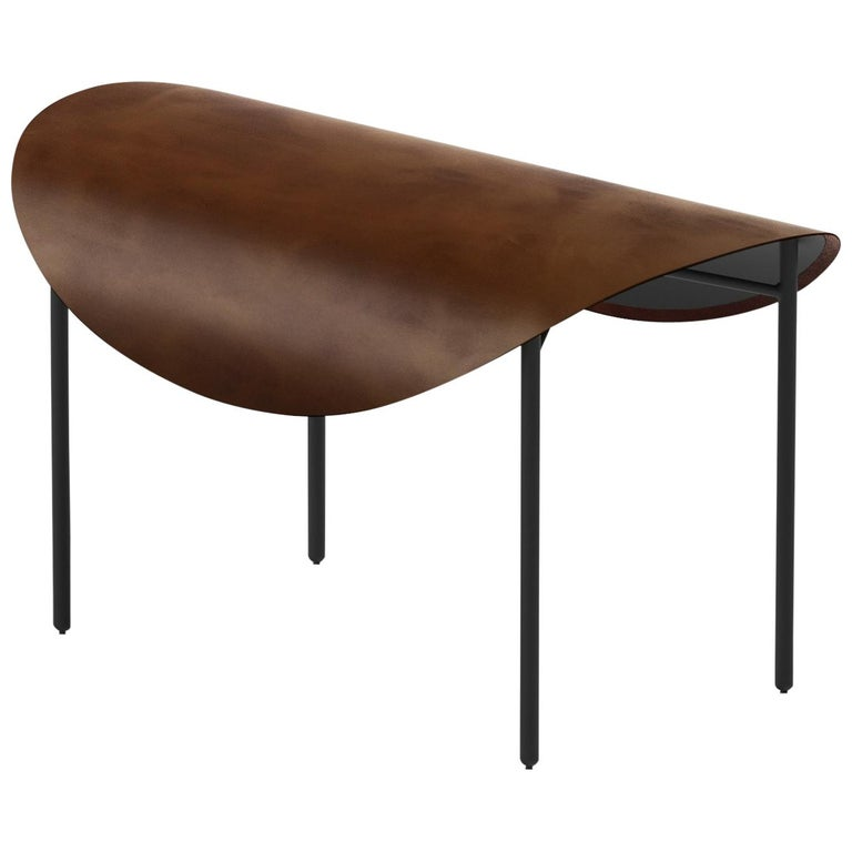 Tack Bench, Calen Knauf, Brown and Black, Steel Leather For Sale