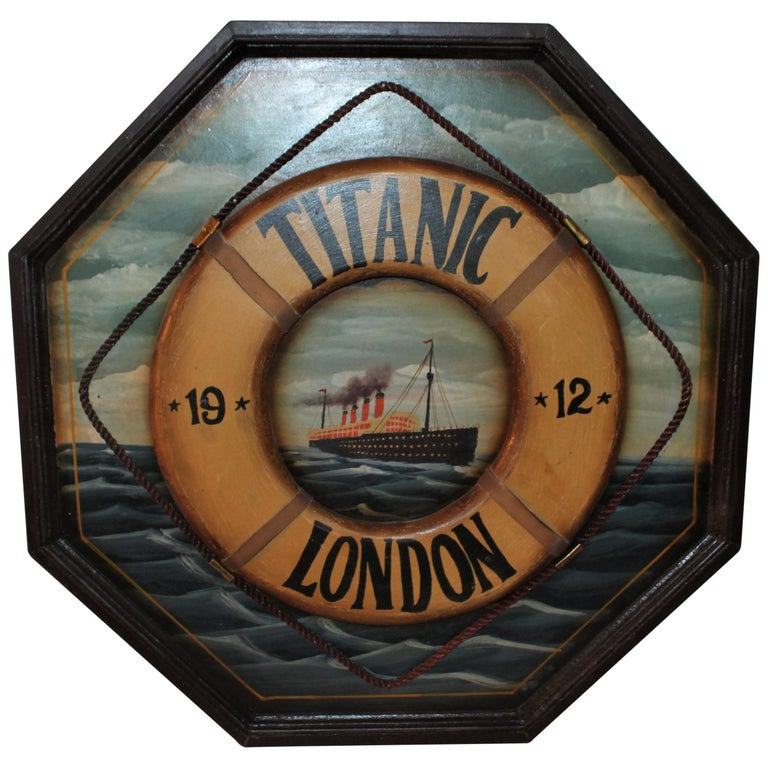 Hand Painted Titanic Trade Sign, 1912 For Sale