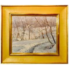 """John E Berninger """"Winter Landscape"""", 1928"""
