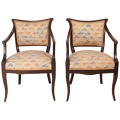 Paar Sessel Directoire, Italien um 1820