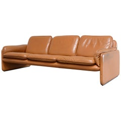 De Sede DS 61 Leather Sofa Cognac