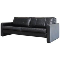 COR Conseta Leather Sofa Black