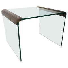 Bronze and Glass Lamp Table by Pace