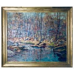 "John E Berninger ""Fall Along the Saucon Creek"", 1931"