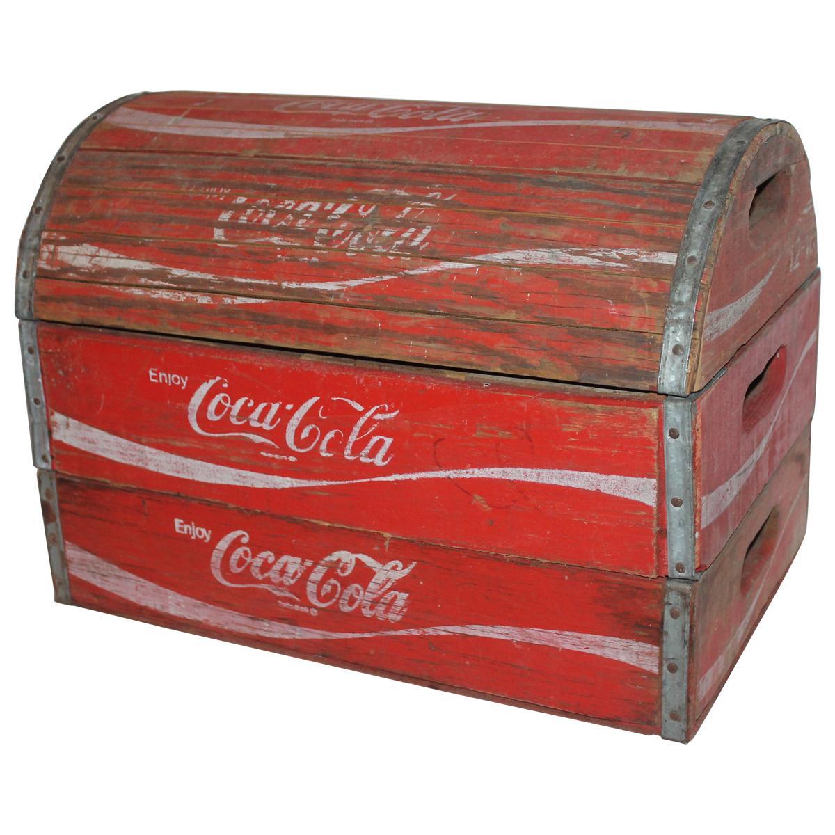 Rustic 20th Century Coca-Cola Trunk