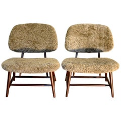 Pair of 'TeVe' Lounge Chairs by Alf Svensson, Ljungs Industrier Sweden