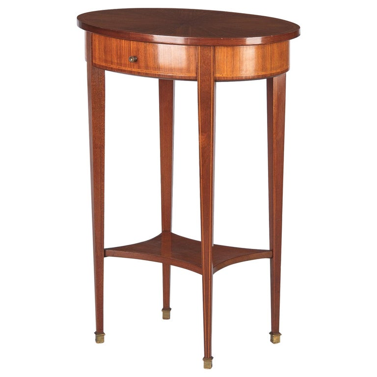 French Louis XVI Style Mahogany Side Table, Early 1900s For Sale