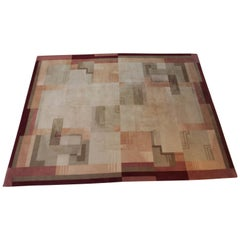 Machine Age Art Deco Jazz Age, Broadloom Geometric Carpet Rug