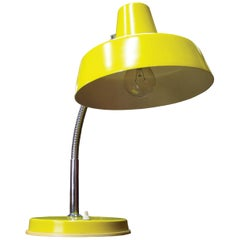Yellow Industrial Desk Lamp