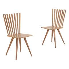 Paar 'Mikado' Stühle von Johannes Foersom und Peter Hiort-Lorenzen von Nussbaum