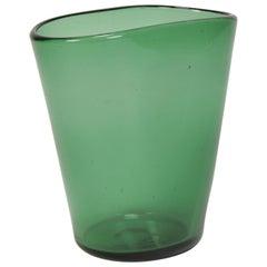 Italian Vase Vetro Verde di Empoli, 1960s