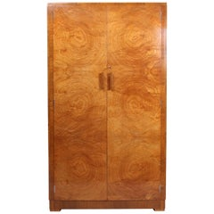 Art Deco Wardrobe in Satin Birch