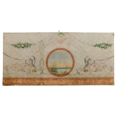 19th Century Antique Decorative Panel on Paper