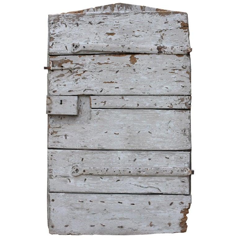 17th Century English Exterior Elm Plank Door For Sale