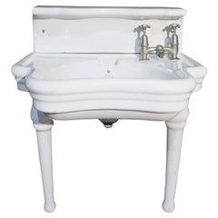 Rare English Barber Shop Wash Basin / Sink by Elegan, 1918
