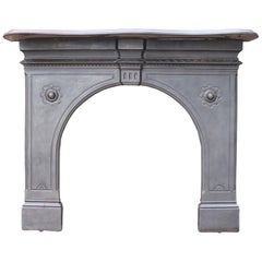 Antique English Cast Iron Fire Surround