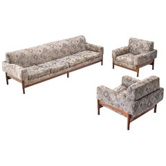 Saporiti Living Room Set with Rosewood Frame