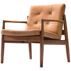 Danish Armchair in Cognac Leather