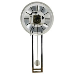 Lucite and Chrome Wall Clock by George Nelson, Howard Miller