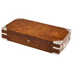 Early 20th Century Bird's-Eye Maple Collectors Box, circa 1920