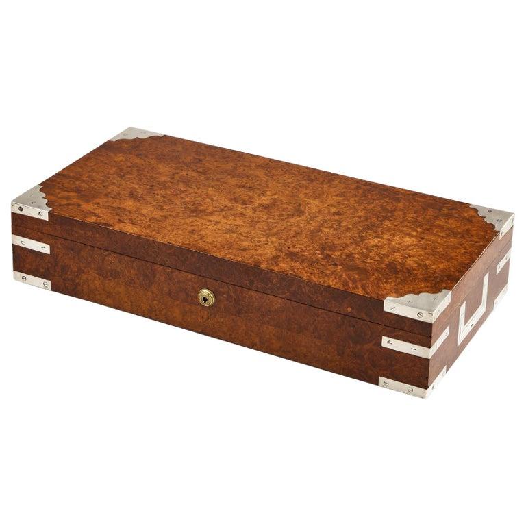 Early 20th Century Bird's-Eye Maple Collectors Box, circa 1920 For Sale