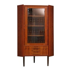 Corner Cabinet Teak Vintage Danish Design