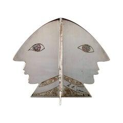 Rare Claude Picasso for Christofle, Sculpture, Four Faces