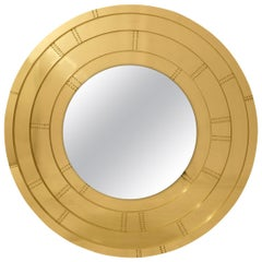 Golden Gate Mirror with Solid Polished Brass