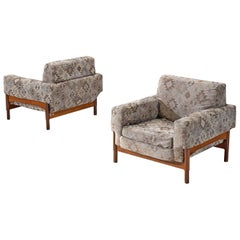 Saporiti Lounge Chairs with Rosewood Frame