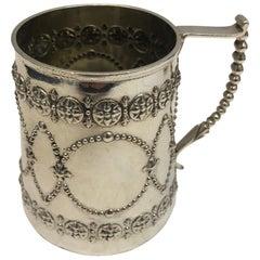 Antique Silver Mug, London, circa 1870