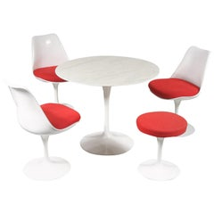"""Tulip"" Dining set by Eero Saarinen for Knoll International, USA 1980"