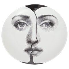 Piero Fornasetti Midcentury 'Tema E Varazioni' Lina Plate, circa 1960