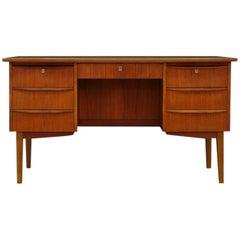 Retro Writing Desk Danish Design, 1960-1970 Teak